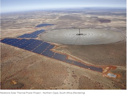 SolarReserve Redstone Solar Thermal Power Project Rendering