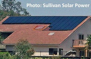 Sullivan Solar Power Home installation