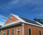 A 3.22 kW residential system installed in Mid-City New Orleans by SSI. Photo: Gulf States Renewable Energy Industry Association