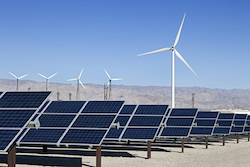© Kennytong | Dreamstime.com - Solar Panels And Wind Turbine Power Photo