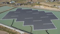 1.7MW floating solar power plant at Nishihira Pond 1
