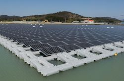 1.7MW floating solar power plant at Nishihira Pond 2
