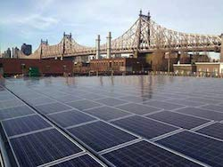 Dykes Lumber Company solar power project with assistance from the NY-Sun program.