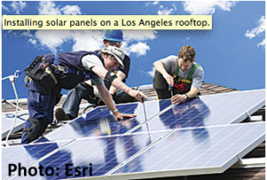roofop solar panels in LA