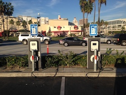Blink electric vehicle charges in Orange County, California. Photo Credit Joanna Schroeder