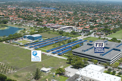 Artist's conceptual rendering of the 1.6-megawatt solar installation FPL plans to install at Florida International University in 2015. The solar-powered parking canopies will also create about 600 shaded parking spaces in the parking lot of FIU's Engineering Center. (PRNewsFoto/Florida Power & Light Company)