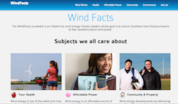 Wind Facts website