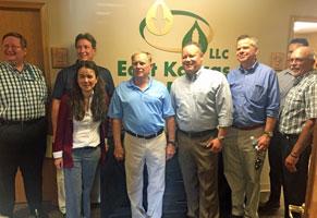 EPA officials visit East Kansas Agri-Energy plant