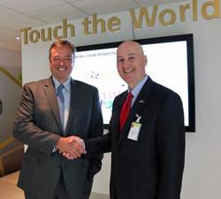 Novozymes CEO Peder Holk Nielsen welcomes Nebraska Gov. Ricketts