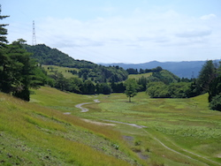 Abandoned golf course in Japan that will be repurposed into a 23 MW solar farm.