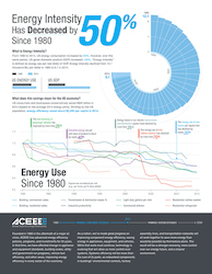 ACEEE energy reduction report infographic