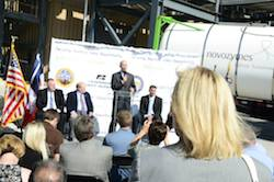 Nebraska Governor Pete Ricketts speaks about the RFS during a rally held at Novozyme's enzyme facility in Blair, Nebraska. Photo Credit: Novozymes