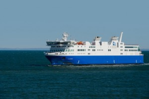 NM F.-A.-Gauthier, the first ferry to run on liquefied natural gas (LNG) in North America. Photo Credit: Gaz Metro.