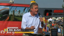Jeb Bush at Presidential Soapbox