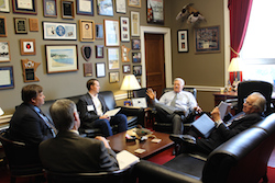 NFU members meet with MN Rep. Collin Peters during the fall Fly-In.