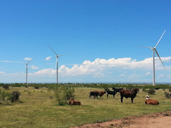 Spinning Spur 3 delivers clean electricity to the towns of Georgetown and Garland in Texas. (Photo: Business Wire)