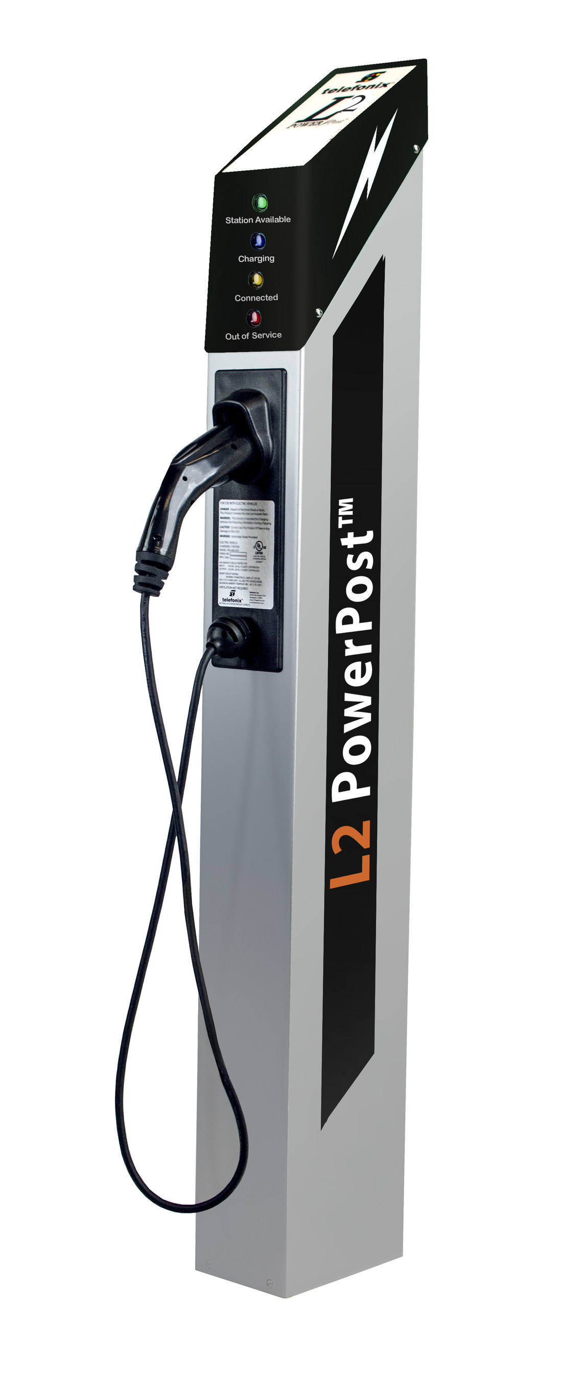 L2 PowerPost(TM) EV charger (PRNewsFoto/Telefonix Inc.)