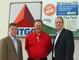 Protec Fuel's Steve Walk, Citgo station owner Paul Przychocki, and Protec CEO Todd Garner