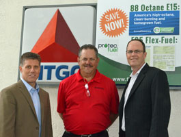 Protec Fuel's Steve Walk, Citgo station owner Paul Przychocki, and Protec CEO Todd Garner