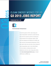 E2 3rd Quarter Clean Jobs Report