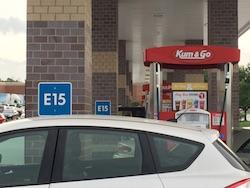 Kum & Go station in Des Moines offering E15. Photo Credit: Joanna Schroeder