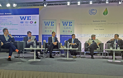 From left to right: Nick Nuttall (Moderator), UNFCC; Jean-Marc Ollagnier, CEO, Accenture Resources; Steve Howard, CSO, IKEA; Adnan Z. Amin, Director-General, IRENA; Rachel Kyte, incoming CEO, SE4All; Khaled Fahmy, Minister of Environment, Egypt, Chair of AMCEN