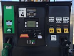 Renewable Fuel pump featuring biodiesel and ethanol. Photo Credit: Joanna Schroeder