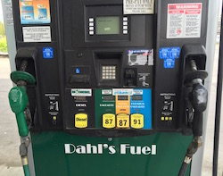 Biodiesel and ethanol pump in Des Moines, Iowa on April 24, 2016. Photo Credit: Joanna Schroeder