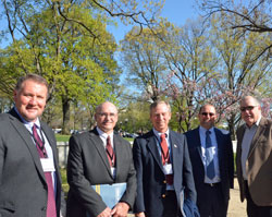 ACE president Ron Alverson  (2nd from left) with other members after Hill visits