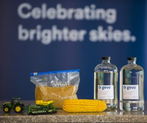 Sustainably grown U.S. corn is converted into renewable alcohol-to-jet fuel by Gevo, Inc. Ingrid Barrentine/Alaska Airlines