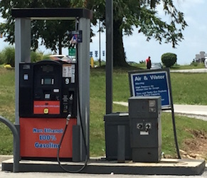 "Example of a ""no ethanol"" pump popping up around East Tennessee. Photo Credit: Joanna Schroeder"