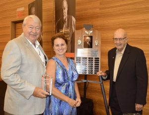 Lars Herseth with his wife and Merle Anderson. Herseth was this year's honoree of the Merle Anderson Award.