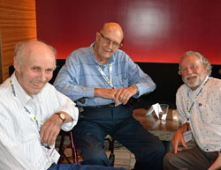 Former ACE president Bob Scott (right) with ACE founding members Orrie Swayze and Merle Anderson
