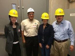 Ponsi Trivisvavet, president of Syngenta Seeds LLC (left); Delayne Johnson, CEO of Quad County Corn Processors; Sen. Joni Ernst; and Gov. Terry Branstad.