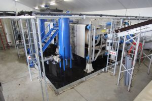 "For the first time, WELTEC will showcase the efficient slurry and digestate processing system ""Kumac"". The fully automated processing system ""Kumac"" reduces the liquid manure and digestate volume by 50 percent. Photo credit: Weltec Biopower"