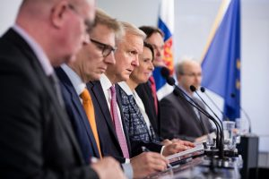 Finnish Government unveiling its National Energy and Climate Strategy during a press event. Photo Credit: Finnish Government